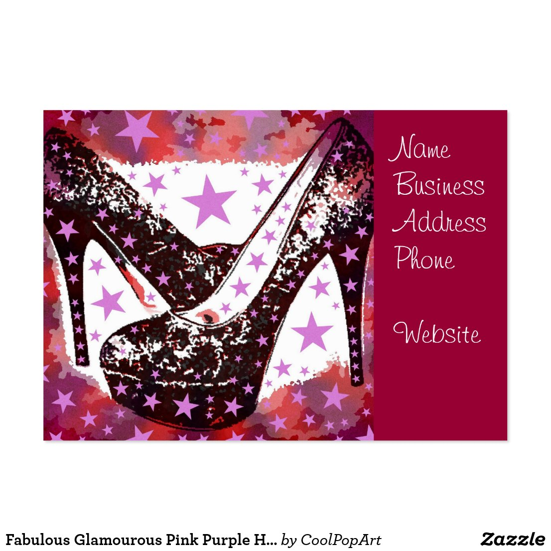 Pink And Purple High Heels