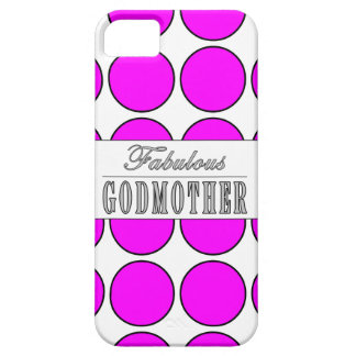 Fabulous Godmother Pink Polka Dots on White iPhone 5 Cover