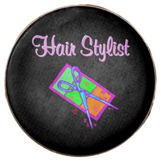 FABULOUS HAIR STYLIST HAIR CUT DESIGN CHOCOLATE COVERED OREO