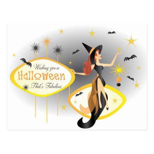 Fabulous Halloween Postcard