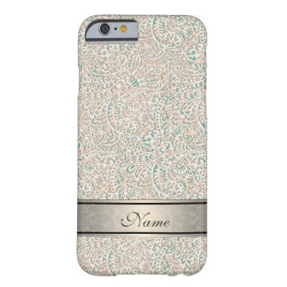 Fabulous impressive girly vintage damask barely there iPhone 6 case