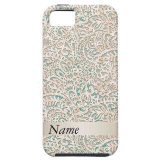 Fabulous impressive girly vintage damask iPhone SE/5/5s case