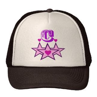 ╚»★Fabulous Initial C Stylish Trucker Hat★«╝ Trucker Hat
