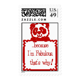 FABULOUS IS WHY POSTAGE STAMP