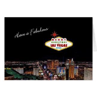 Fabulous Las Vegas Christmas Card