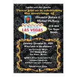 "Fabulous Las Vegas Damask Wedding Invitations 5"" X 7"" Invitation Card"
