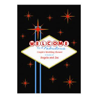 Fabulous Las Vegas Nights Wedding Shower Invite