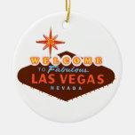 Fabulous Las Vegas Double-Sided Ceramic Round Christmas Ornament