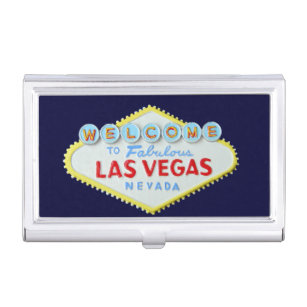 Las vegas business card holders cases zazzle fabulous las vegas sign business card holder reheart Image collections