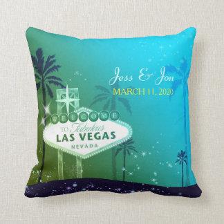 Fabulous Las Vegas Wedding Couple Keepsake Throw Pillow