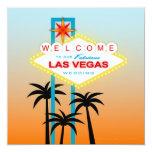 "Fabulous Las Vegas Wedding Invitation 5.25"" Square Invitation Card"