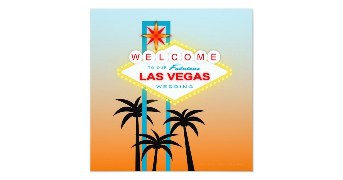 Fabulous las vegas wedding invitation zazzle for Arts and crafts stores in las vegas