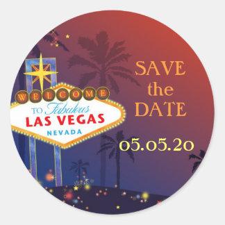 Fabulous Las Vegas Wedding Save the Date Stickers