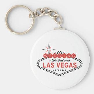 Fabulous Las Vegas Wedding Template Customizable Keychain