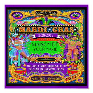 FABULOUS Mardi Gras Carnival Invitation