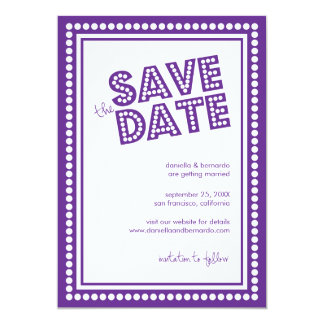Fabulous Marquee Save The Date Announcement