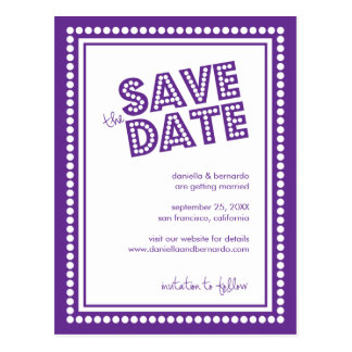 Fabulous Marquee Save The Date Postcard