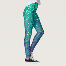 fabulous mermaid simulated sequin leggings
