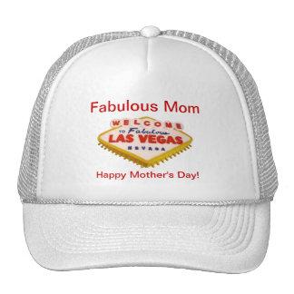 Fabulous Mom Happy Mother s Day Las Vegas Cake Ha Mesh Hat