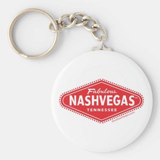 Fabulous NASHVEGAS TM Logo Keychain