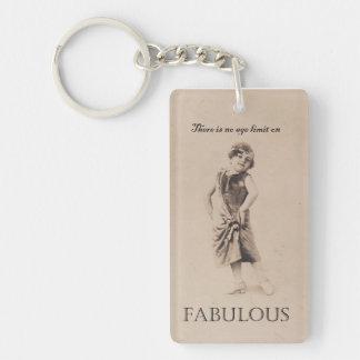 Fabulous On The Go Acrylic Keychain