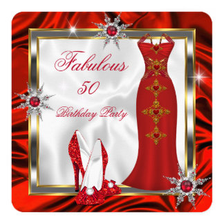 Fabulous Party Red Silver Dress Heels H8 Card