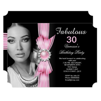 Fabulous Photo Birthday Party Soft Pink Black