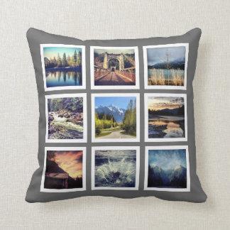 Fabulous Photography 18 Pics Instagram Grid Throw Pillow