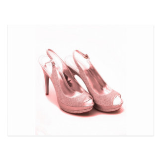 Fabulous Pink Glitter Stilettos Postcard