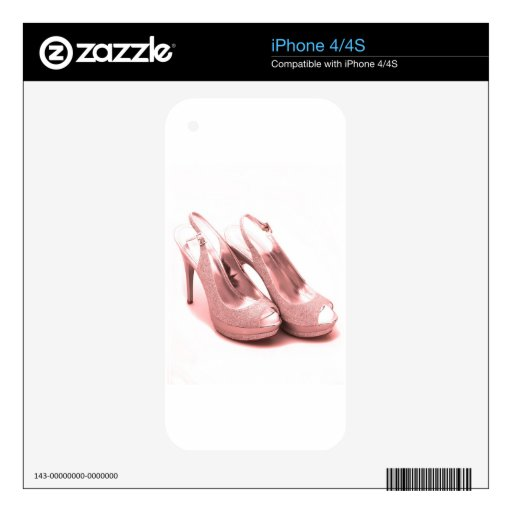 Fabulous Pink Glitter Stilettos Skins For The iPhone 4