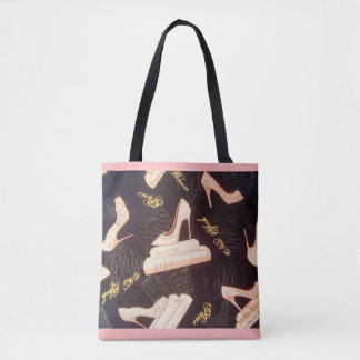 """""""Fabulous Pink Shoes"""" All-Over-Print Tote Bag"""