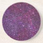 Fabulous purple glitter coaster