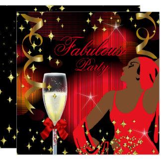 Fabulous Red Glitter Diva Birthday 2 Card