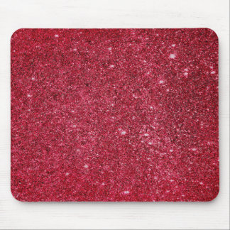 Fabulous red glitter texture mouse pad