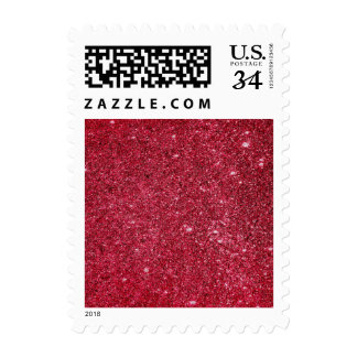 Fabulous red glitter texture postage stamps
