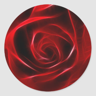 Fabulous Red Rose Classic Round Sticker