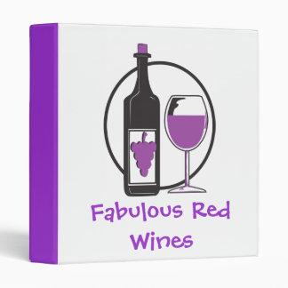 Fabulous Red Wines Binder