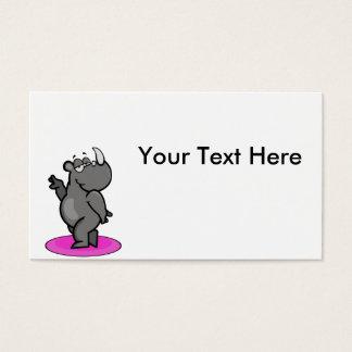 Fabulous Rhino Cartoon Business Card