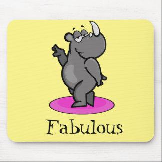 Fabulous Rhino Cartoon Mouse Pad