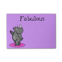 Fabulous Rhino Cartoon Post-it Notes