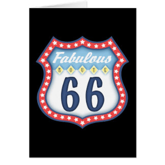 Fabulous Route 66 Card