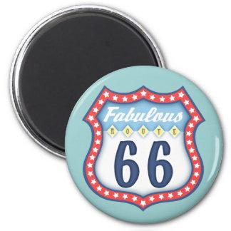 Fabulous Route 66 Magnet