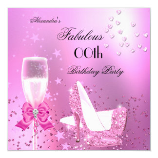 Fabulous Shimmer Light Pink Heels Birthday Card
