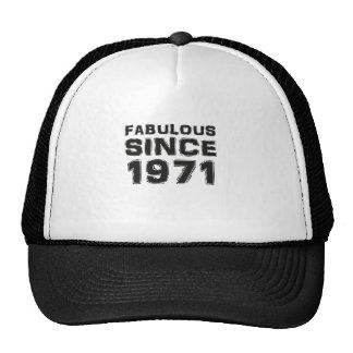 Fabulous since 1971 gorros bordados