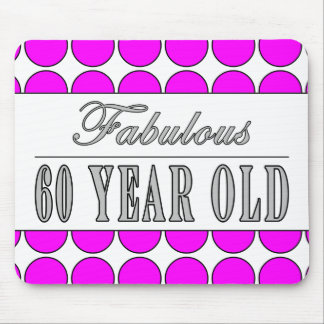 Fabulous Sixty Year Old Pink Polka Dots Mouse Pad