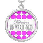 Fabulous Sixty Year Old Pink Polka Dots Pendant