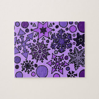 Fabulous Snow Art Abstract Jigsaw Puzzles