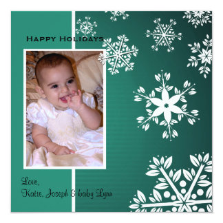 Fabulous Snowflakes Holiday Photo Card