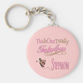 Fabulous Stepmom Basic Round Button Keychain