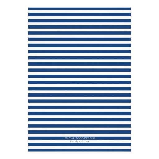 Fabulous Stripes General Party Invitation (Blue) (back side)